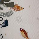 魚とわかめの図刺繍絽名古屋帯 質感・風合