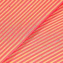浦野理一作 紅色地細縞半幅帯 質感・風合