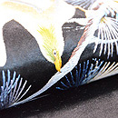 松に鳥の図刺繍名古屋帯 質感・風合