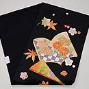 梅と紅葉に絵本刺繍名古屋帯 帯裏