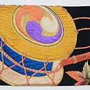 梅と紅葉に絵本刺繍名古屋帯 前柄