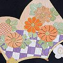 梅と紅葉に絵本刺繍名古屋帯 質感・風合