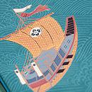 戦船の図名古屋帯 質感・風合