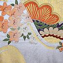 松に桜とつつじの刺繍丸帯 前柄