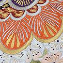 松に桜とつつじの刺繍丸帯 質感・風合