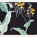 菜の花の図染名古屋帯 前柄