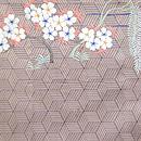 桜風景文様刺繍袋帯 前柄