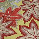 紅葉散らし丸帯 質感・風合