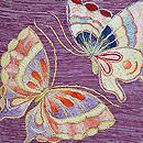 リボン刺繍蝶々の名古屋帯 質感・風合