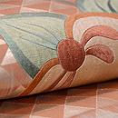鱗紋に橘の刺繍名古屋帯 質感・風合