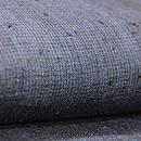 浦野理一作 縦節紬藍濃淡の微塵縞名古屋帯 質感・風合