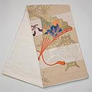 檜扇と地紙の刺繍綴れ袋帯 帯裏