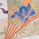 檜扇と地紙の刺繍綴れ袋帯 質感・風合