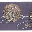 勾玉、太刀、古鏡の刺繍帯 前柄