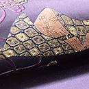 勾玉、太刀、古鏡の刺繍帯 質感・風合