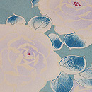 縮緬紫の薔薇名古屋帯 質感・風合