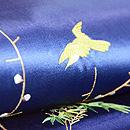 梅に鶯と蔦唐草の小袖くずし名古屋帯 質感・風合