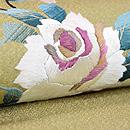 白薔薇と蕾の刺繍名古屋帯 質感・風合