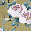 白薔薇と蕾の刺繍名古屋帯 織り出し