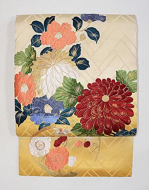 新春の刺繍名古屋帯