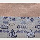 インド紋織り名古屋帯 前柄