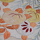 柳に橘刺繍の名古屋帯 質感・風合