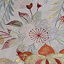 御所の風物図刺繍袋帯 質感・風合