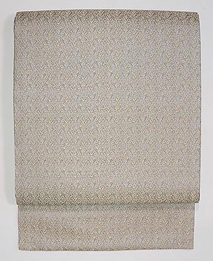 グレー紋織り名古屋帯