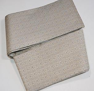 グレー紋織り半巾帯