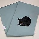 黒ネコの刺繍名古屋帯 帯裏