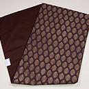 紫根色紋織りの名古屋帯 帯裏