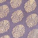 紫根色紋織りの名古屋帯 質感・風合