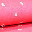 赤の小花模様名古屋帯 質感・風合
