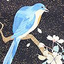 桜木に青い鳥刺繍名古屋帯 質感・風合