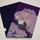 紫地疋田にお花の名古屋帯 帯裏