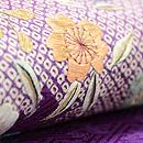 紫地疋田にお花の名古屋帯 質感・風合