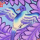 青い鳥の染め名古屋帯 質感・風合