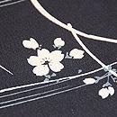 黒地桜の染め半巾帯 質感・風合