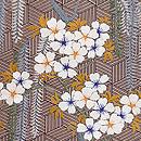 柳に桜刺繍名古屋帯 質感・風合