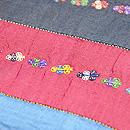 横段に刺繍のペルシャ布名古屋帯 質感・風合