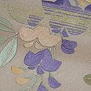 端午の花尽くし刺繍名古屋帯 質感・風合