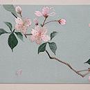 黒猫に桜の刺繍名古屋帯 前柄