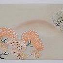 塩瀬地山桜の刺繍名古屋帯 前柄