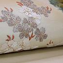 塩瀬地山桜の刺繍名古屋帯 質感・風合