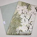 桜と柳の図織名古屋帯 帯裏