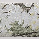 桜と柳の図織名古屋帯 前柄