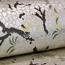 桜と柳の図織名古屋帯 質感・風合