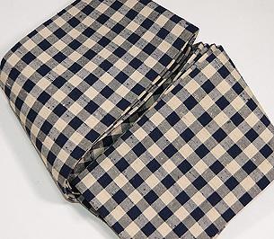 弁慶格子の伊兵衛織半巾帯