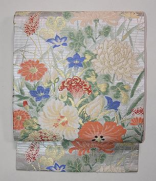 百花繚乱の織 夏の名古屋帯