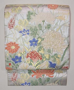 百花繚乱の織 夏の袋帯